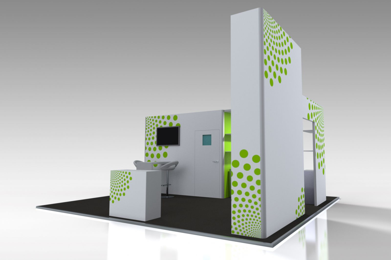 Custom Exhibition Stand Green